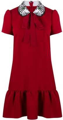 RED Valentino Panther Embroidered Mini Dress