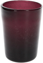 A by Amara - Leighfield Glass Tumbler - Maroon - Large