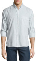 Billy Reid Check Long-Sleeve Sport Shirt, Light Blue