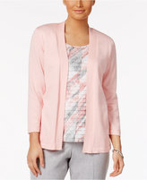 Alfred Dunner Rose Hill Layered-Look Top