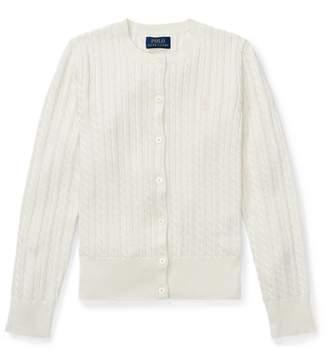 Ralph Lauren Mini-Cable Cotton Cardigan