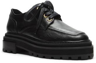 Schutz Bethie Leather Platform Loafers