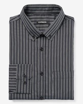 Express Slim Striped Wrinkle-Resistant Performance Dress Shirt
