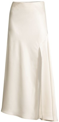 Significant Other Lucine Front-Slit Maxi Satin Skirt