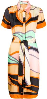 Diane von Furstenberg Abstract Print Shirt Dress