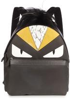 Fendi Bag Bugs Fur-trimmed And Nylon Backpack