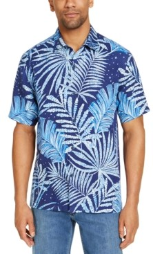 Tommy Bahama Men's Through the Fronds Classic-Fit Botanical-Print Silk Camp Shirt