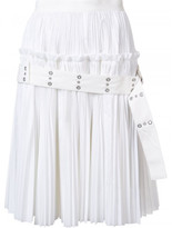 Sacai eyelet belt pleated skirt