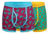 Red Herring Pack Of Two Multicoloured Dinosaur Print Trunks