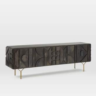"west elm Pictograph Media Console (84"") - Carbon"