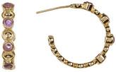 Melinda Maria Penelope Mixed Amethyst Mini C-Hoop Earrings
