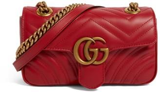 Gucci Mini Leather Marmont Matelasse Shoulder Bag