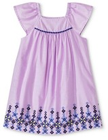 Toddler Girls' Embroidered Lawn Dress Purple - Cherokee®
