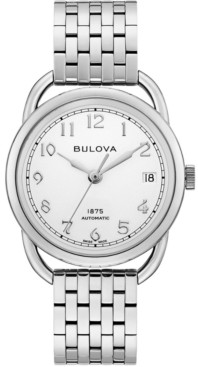 Bulova Limited Edition Women's Swiss Automatic Joseph Stainless Steel Bracelet Watch 34.5mm