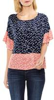 Vince Camuto Women's Ruffle Sleeve Shirt