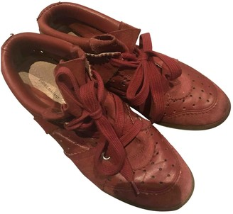 Isabel Marant Bobby Burgundy Suede Trainers