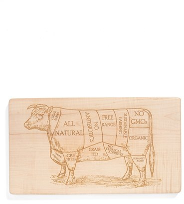 Nordstrom Milk and Honey Luxuries Vintage Butcher's Diagram Cutting Board