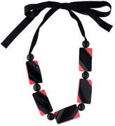 Marni Lacquered Horn Block Bead Necklace