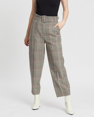 Whistles Check Tapered Trousers