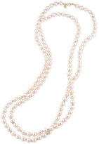 Carolee Gold-Tone Pink Imitation Pearl Rope Necklace