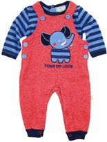 Duck Duck Goose Duck Goose Baby Boys' Elephant Tons Of Love Overall Pant with Long Sleeve Tee