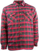 Canyon Guide Outfitters Men's Plaid Flannel Snap Front Work Shirt Jacket
