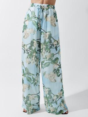 PatBO Floral Wide Leg Pant