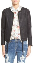 The Kooples Women's Coated Biker Jacket