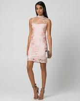 Le Château Embroidered Mesh Illusion Cocktail Dress