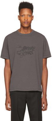 Our Legacy Grey Chambre Separee Wine Print T-Shirt