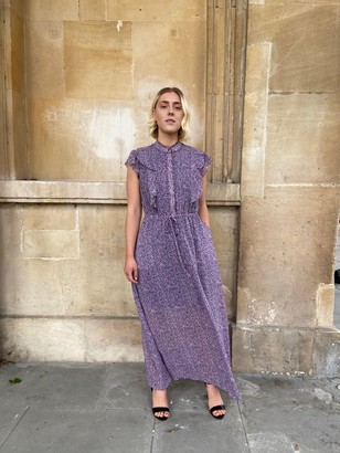 Somerset by Alice Temperley Cheetah Pintuck Dress, Purple