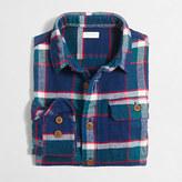J.Crew Factory Boys' elbow-patch flannel workshirt