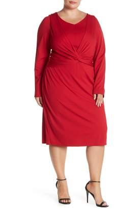 Taylor Twist Front V-Neck Dress (Plus Size)