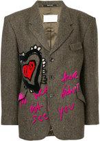Maison Margiela embroidered boxy blazer