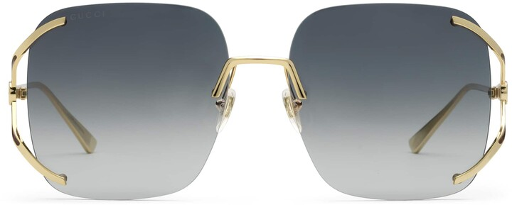 Thumbnail for your product : Gucci Square metal sunglasses