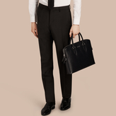 Burberry Slim Fit Wool Mohair Trousers , Size: 44, Black
