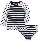 Kate Spade Two-Piece Rashguard Swimsuit (Baby Girls)