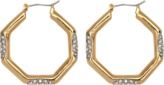 Juicy Couture Pave Station Octagon earrings