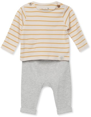 M&Co Stripe top and joggers set (Newborn-12mths)