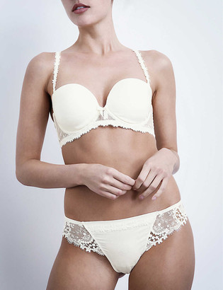 Simone Perele Wish mesh and lace tanga briefs