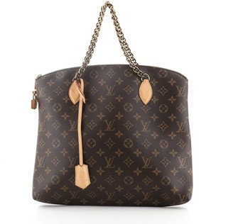 Louis Vuitton Lockit Chain Handbag Monogram Canvas