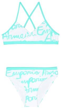 Emporio Armani Kids Logo print bikini