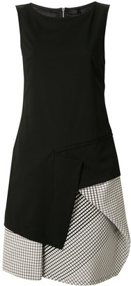 Taylor Transverse checked panel dress