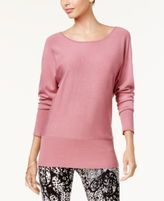 Thalia Sodi Chain-Back Dolman-Sleeve Sweater, Created for Macy's