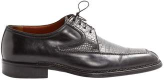 a. testoni Black Leather Lace ups