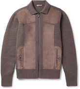Bottega Veneta - Suede-panelled Wool Bomber Jacket
