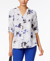 Alfani Tab-Sleeve Blouse, Only at Macy's