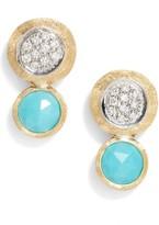 Marco Bicego Women's Jaipur Diamond & Turquoise Stud Earrings
