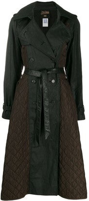 Jean Paul Gaultier Pre Owned 1990's Quilted Details Flared Trenchcoat