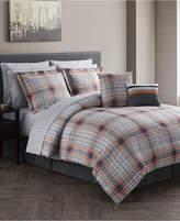 Jessica Sanders CLOSEOUT! Jasper Reversible 12-Pc. Gray Queen Comforter Set